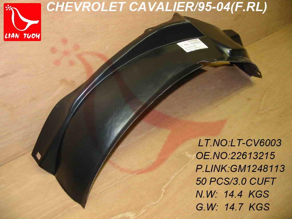 Fender Liner for 2003-2005 Chevrolet Cavalier Front Left /& Right Front Section