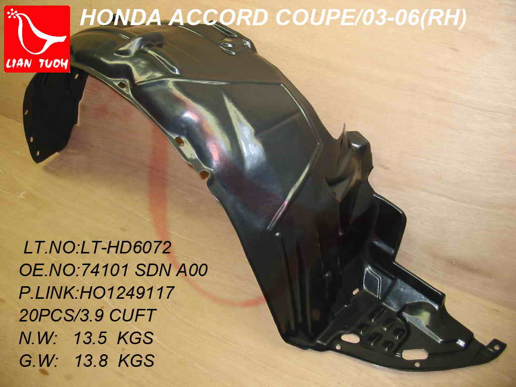 Center Radiator Support For 2003-2007 Honda Accord Primed Assembly