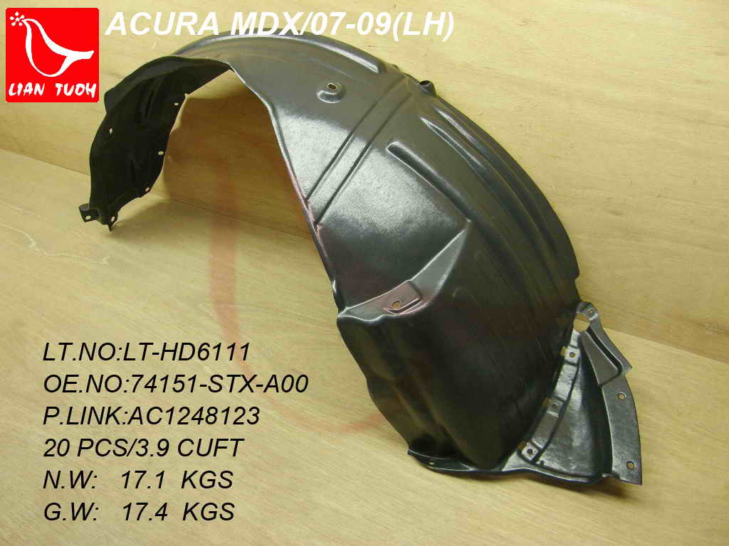 Eagle Autobody Parts Inner Fender Liner For 2007 2013 Acura Mdx