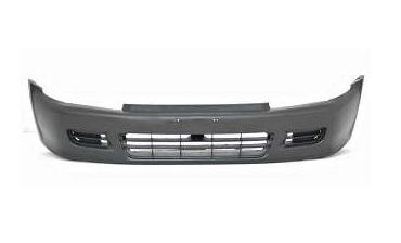Front Bumper Cover For 1992-1995 Honda Civic Coupe//Hatchback Primed Plastic
