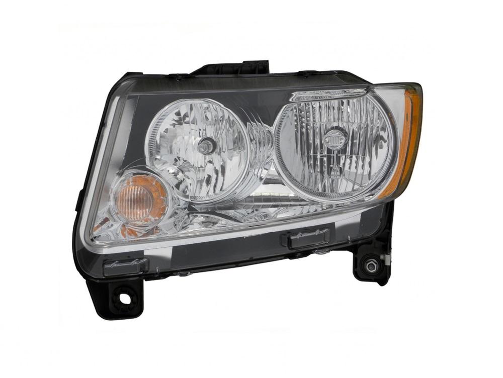 Passenger Side Fog Light Trim Plastic Primed For Compass 11-16