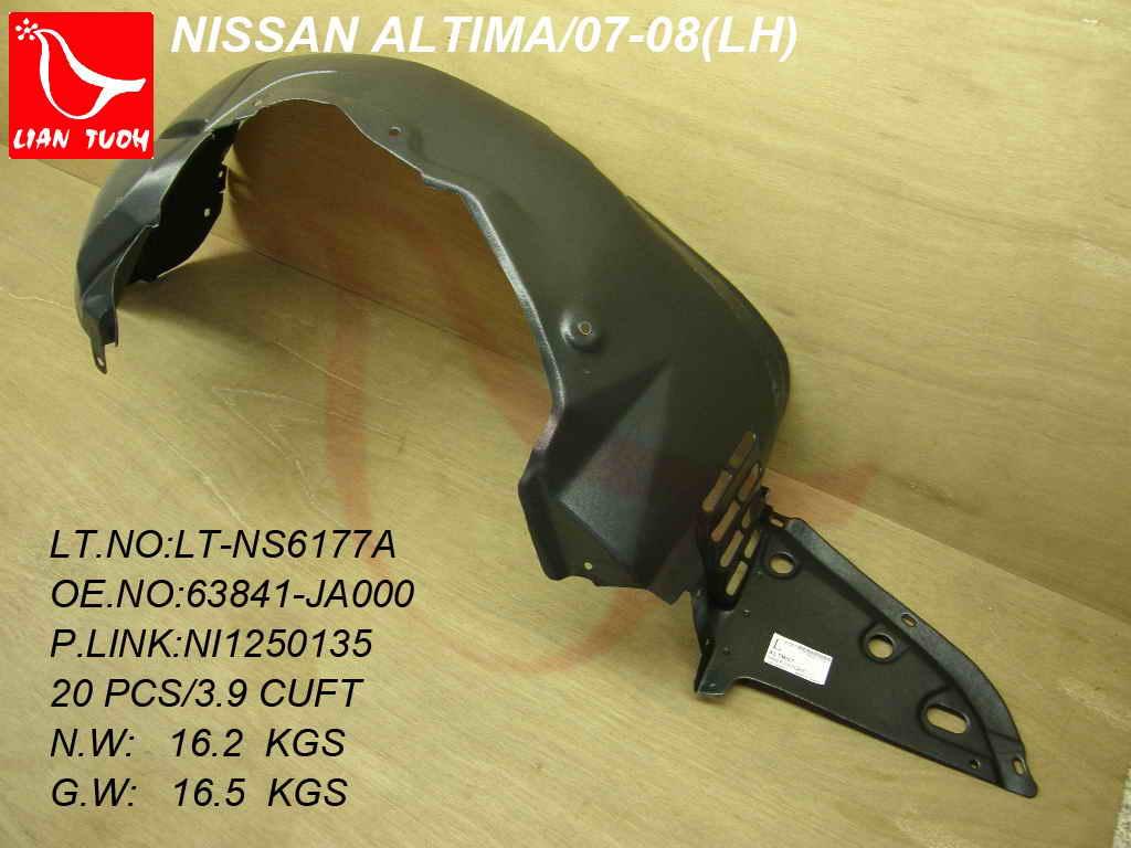 Steel For NISSAN ALTIMA 07-12 FENDER LH Sedan