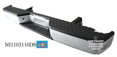 TITAN 07-15 Rear Bumper Assembly PTD Without Sensor Without TO