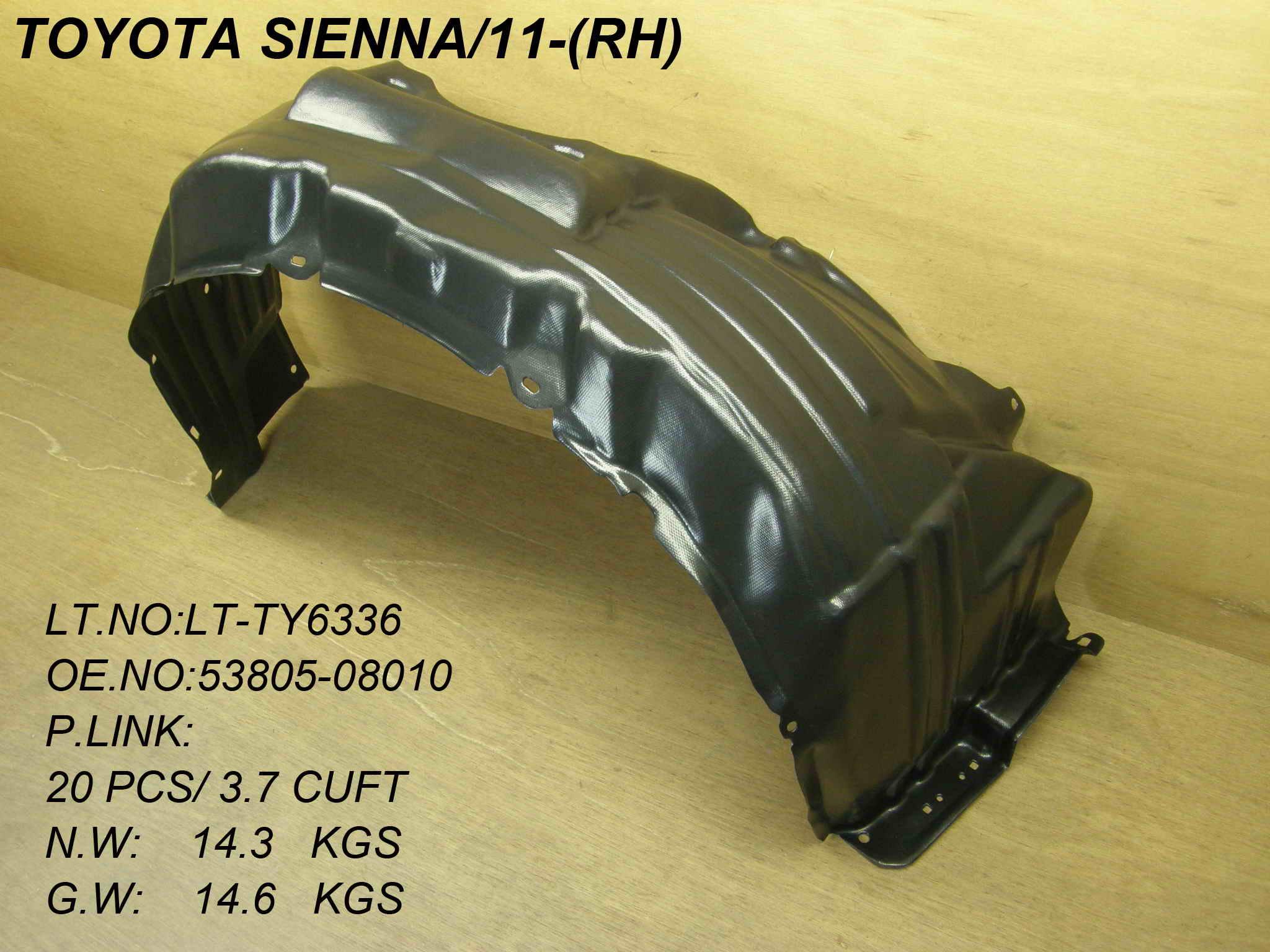 Fender For 2011-2014 Toyota Sienna Front Passenger Primed Steel w// Antenna Hole