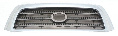 TUNDRA 07-09 Grille Gray With Chrome FRAME LMTD Without